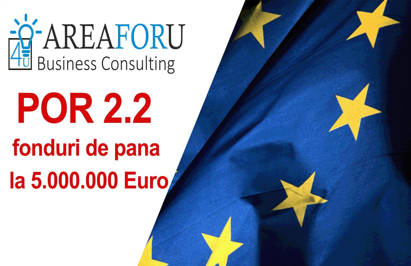 POR 2.2. – fonduri de pana la 1.000.000 euro