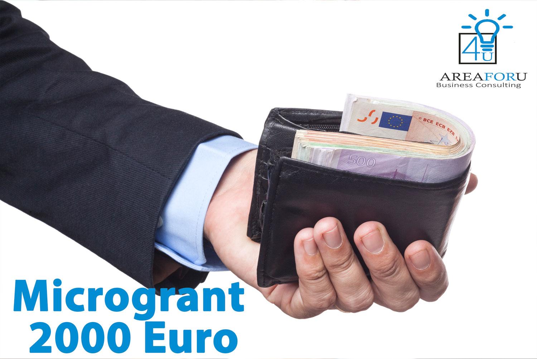 Microgrant 2000 euro - Area4u